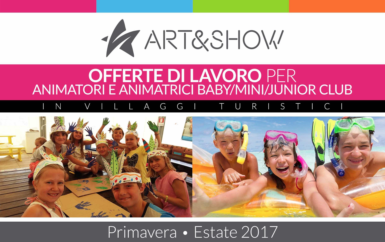 Offerta di lavoro 2018 per animatori per bambini art show for Permessi di soggiorno per lavoro